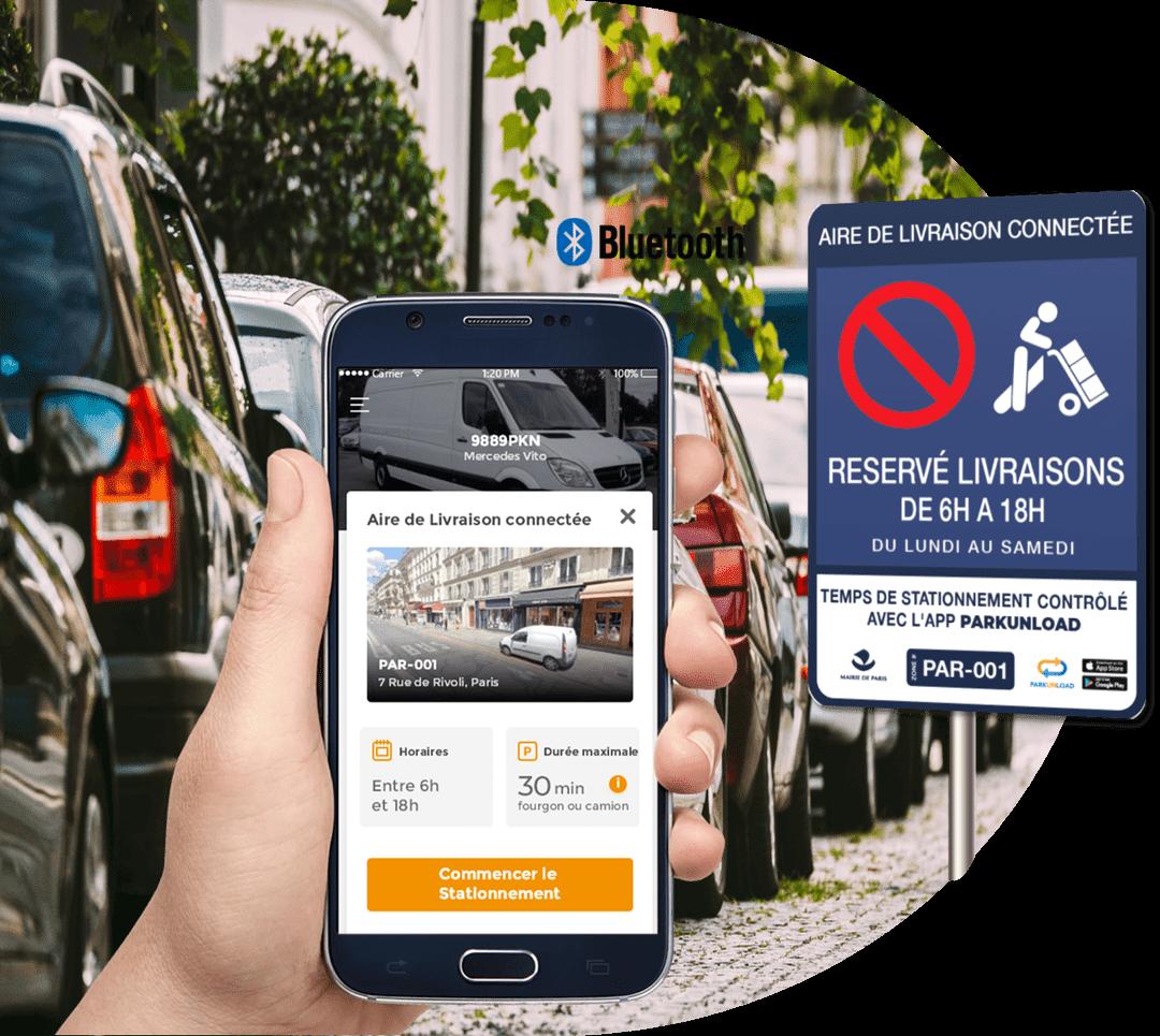 Parkunload App Smart Parking Aires de Livraison