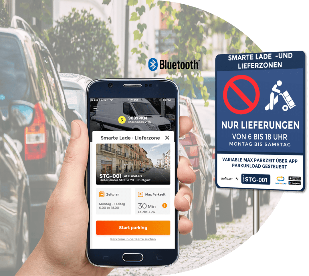 App Parkunload Smart Parking Ladezone Lieferzone