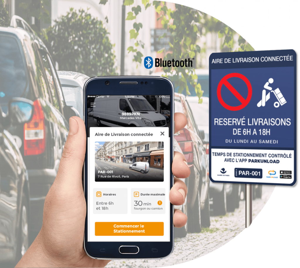 Aires de Livraison Digital Application Parkunload