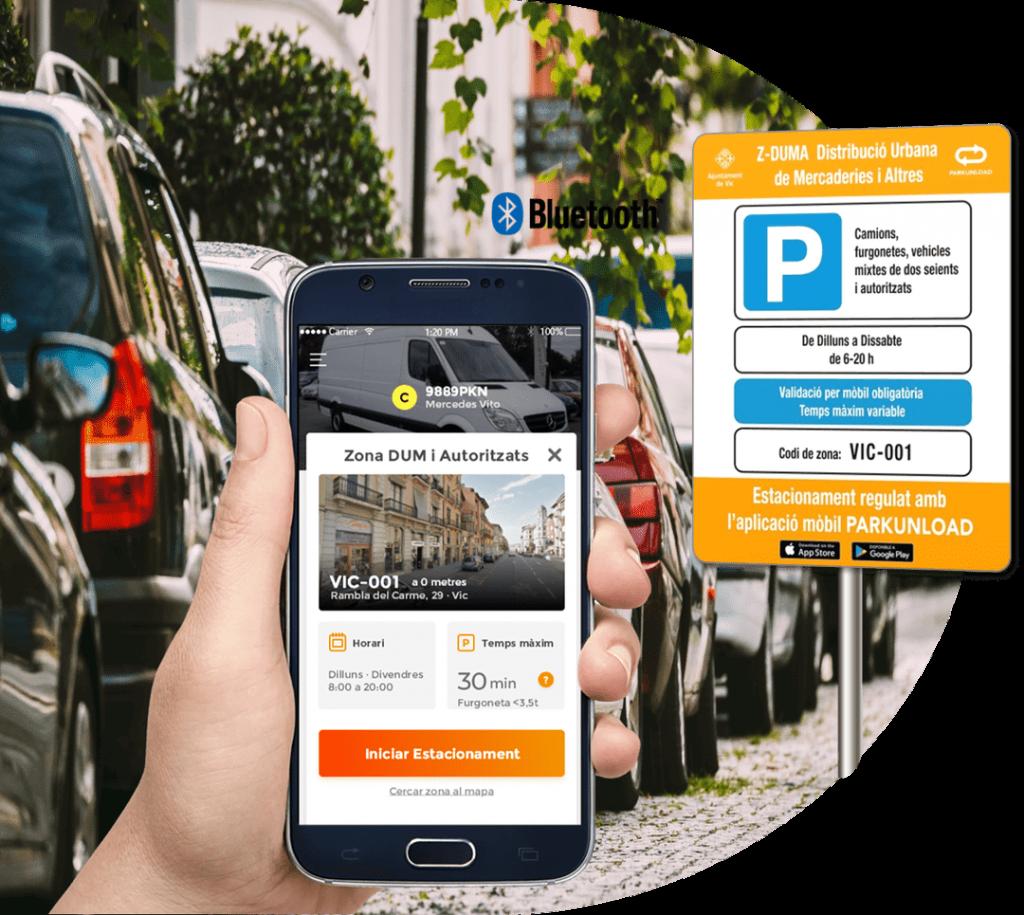 Smart Loading and Delivery Zone Parkunload App