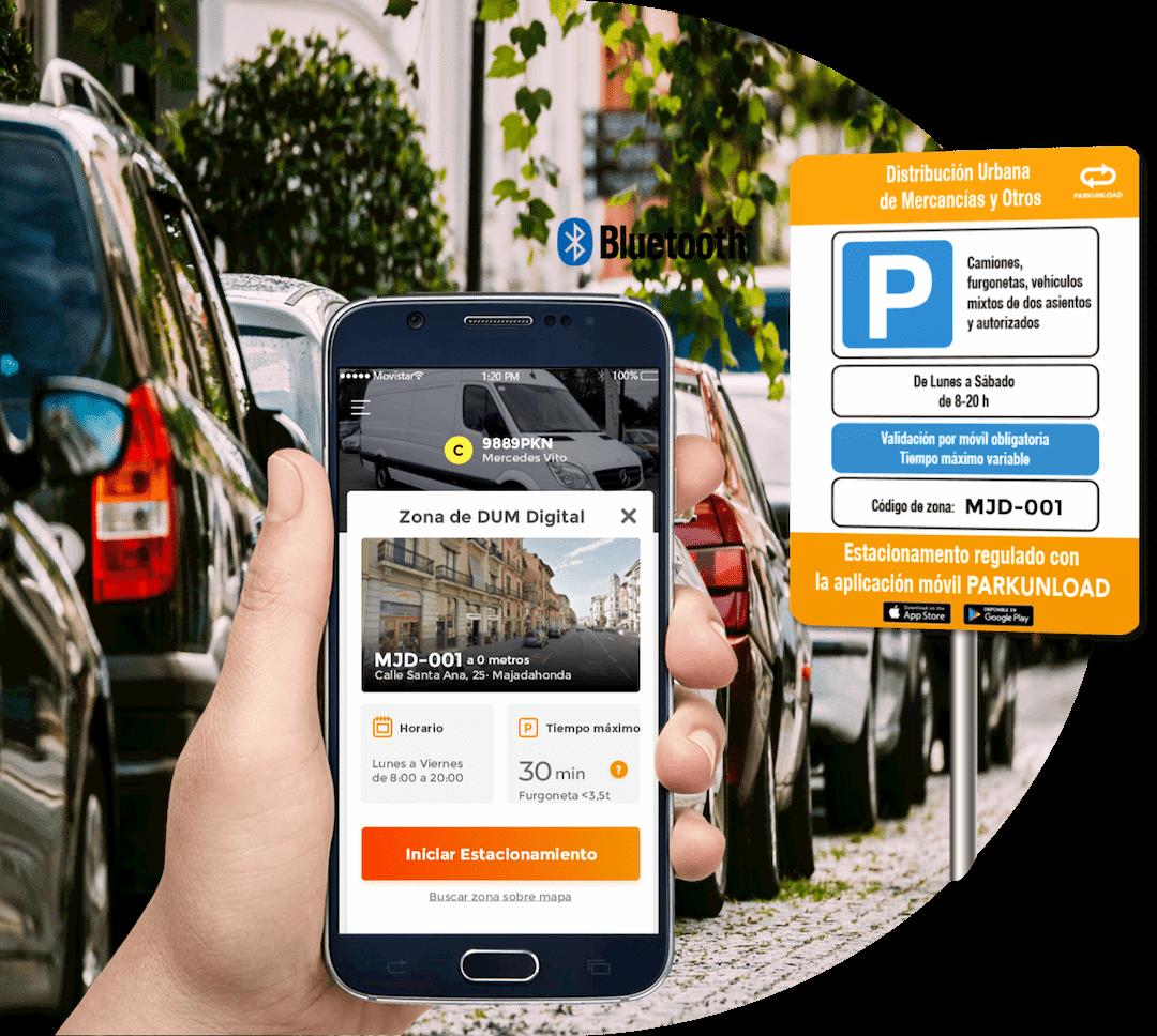 Distribución Urbana de Mercancías Zona DUM App Parkunload