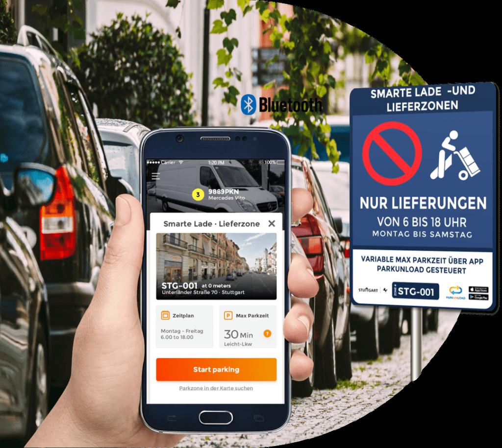 Smart Ladezone Lieferzone App Parkunload