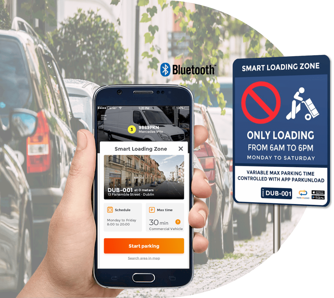 Smart Loading and Delivery Zone Parkunload App